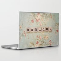 bonjour Laptop & iPad Skins featuring Bonjour by Christine Hall