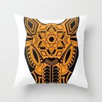 jaguar Throw Pillows featuring jaguar by danta