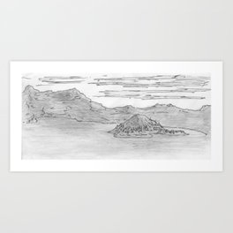 The Island is Growing Art Print