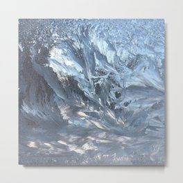 Ice I, Ice Light Wind Abstract Photography Metal Print