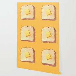 Toast with Butter polygon art Wallpaper