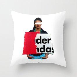 Advertising lies, but sell 9 Throw Pillow