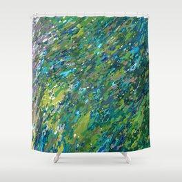 Mossy Waterfall Juul art Shower Curtain