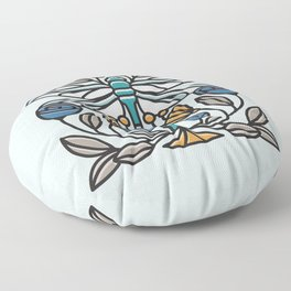 Dragonfly tile Floor Pillow