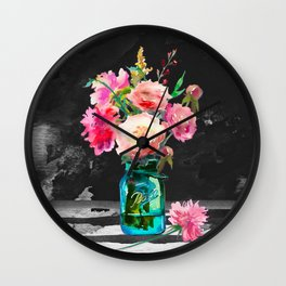 Color in the Dark Wall Clock