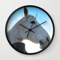 dessert Wall Clocks featuring Dessert Rider by Emily Dwan