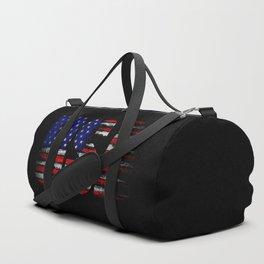 Distressed USA Flag Duffle Bag