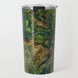 Blue Green Gold Copper Lava Flow Travel Mug