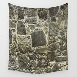 Weathered Stone Wall rustic decor Wall Tapestry