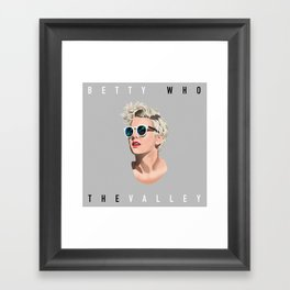 Betty Who Party in the Valley | Pop Star Framed Art Print