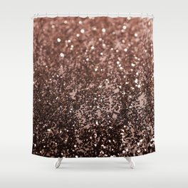 Rose Gold Glitter #1 #sparkling #decor #art #society6 Shower Curtain