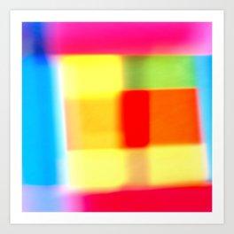 Colored blur background 7 Art Print