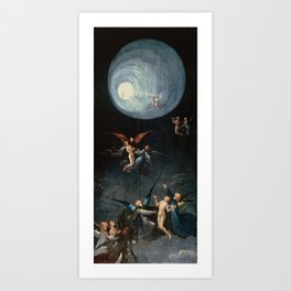 Ascent of the Blessed - Hieronymus Bosch  Art Print