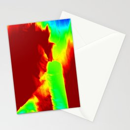 Color Explosion Panel Art #3 Stationery Cards