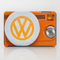 volkswagen iPad Cases featuring Volkswagen Orange by Alice Gosling