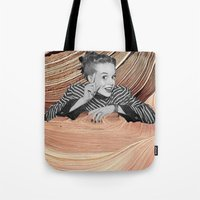 desert Tote Bags featuring Desert by Mrs Araneae
