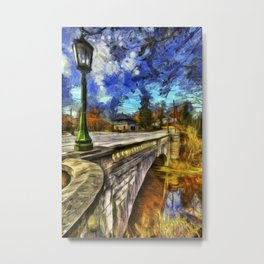 The Headless Horseman Bridge Van gogh Metal Print