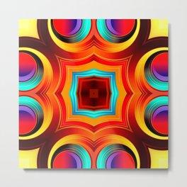 Rainbow Colors Abstract Pattern SB81 Metal Print