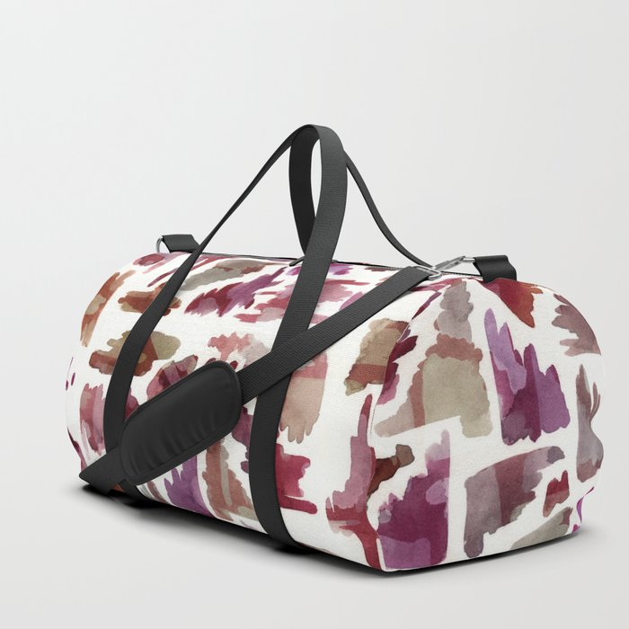 Flag On The Play Wine Duffle Bag