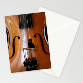 Black Cat And Violin #decor #society6 Stationery Cards