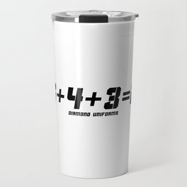 6+4+3=2 - Black Travel Mug