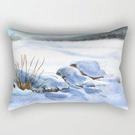 A Winter Study In Blues Rectangular Pillow