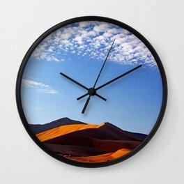 Clouds over Namib desert - Namibia Wall Clock