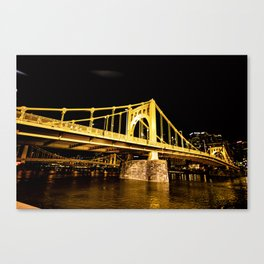 Gold Bridge Canvas Print