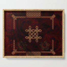 Celtic knote, vintage design Serving Tray