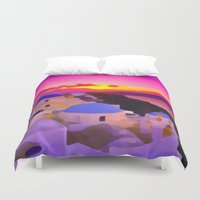 greece Duvet Covers featuring Greece  by Xchange Art Studio
