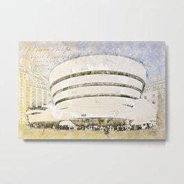 Guggenheim Museum, New York USA Metal Print