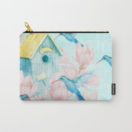 Sweet Summer (Hummingbird Paradise) Carry-All Pouch