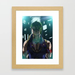 Jerico Graves Mugshot (Battle Damaged) Framed Art Print