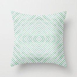 Green Rhomb Throw Pillow