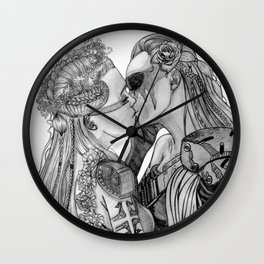 Clexa Wedding Wall Clock