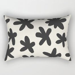 Flower Power Print Rectangular Pillow
