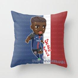 Serge The Black Elephant Throw Pillow