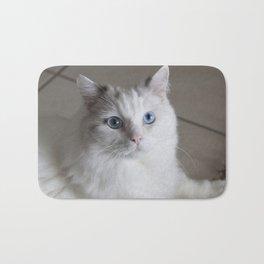 Ragdoll Cat Blue Eyes Bath Mat