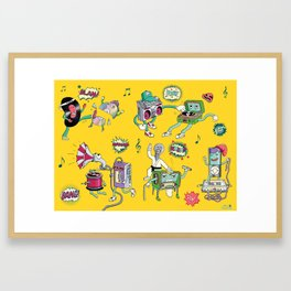 Musical Media Melee Framed Art Print