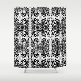 JES' PUZZLED FACE Shower Curtain