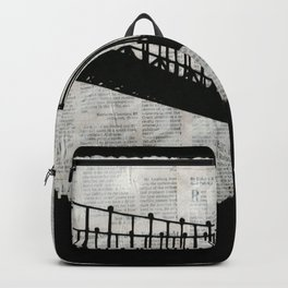 News Feed , Newspaper Bridge Collage Backpack