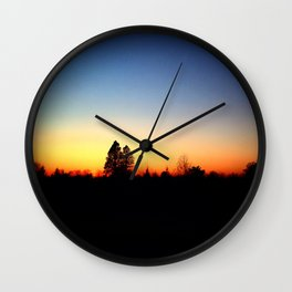 Nature Silhouettes Wall Clock