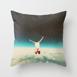 Falling with a hidden smile Throw Pillow