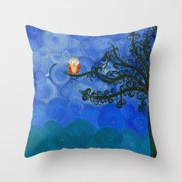 Owl Art by MiMi Stirn - Owl Singles #336 Throw Pillow
