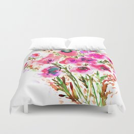 Bouquet Pink Duvet Cover