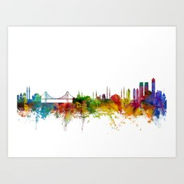 Istanbul Turkey Skyline Art Print