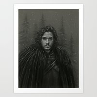 KING IN THE NORTH Art Print