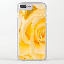 Beautiful Yellow Roses Close-up #decor #society6 #buyart Clear iPhone Case