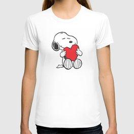 Snoopy love hug T-shirt