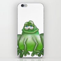 frog iPhone & iPod Skins featuring Frog by Frances Roughton